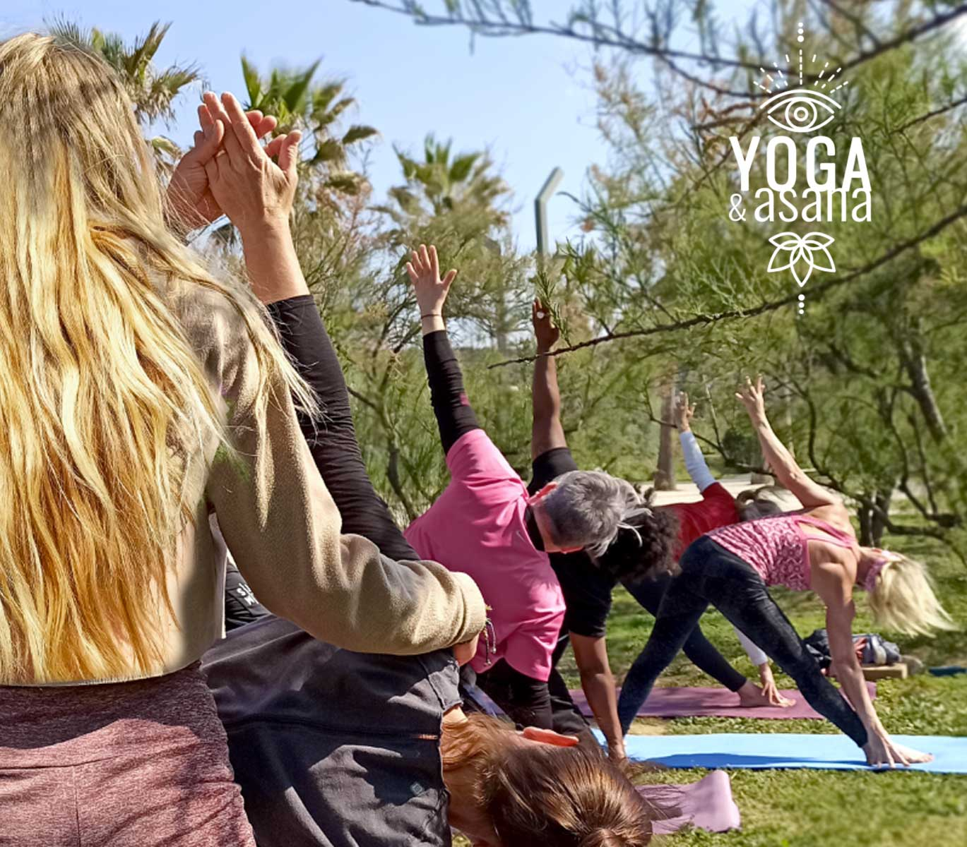 cours de yoga vinyasa en exterieur à sète